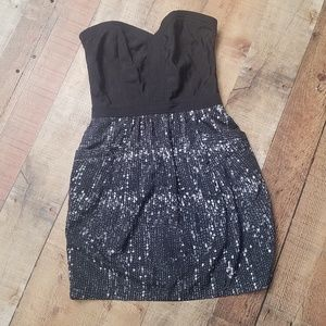 SugarLips Strapless Dress with Pockets